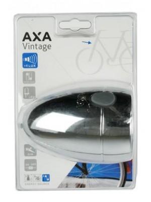 Koplamp Axa Vintage zilver aan/uit batterij laag/dim funtie led lam