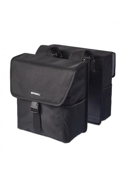 Basil GO Double Bag 32L solid black