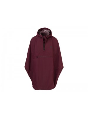 Agu poncho grant wine red one size