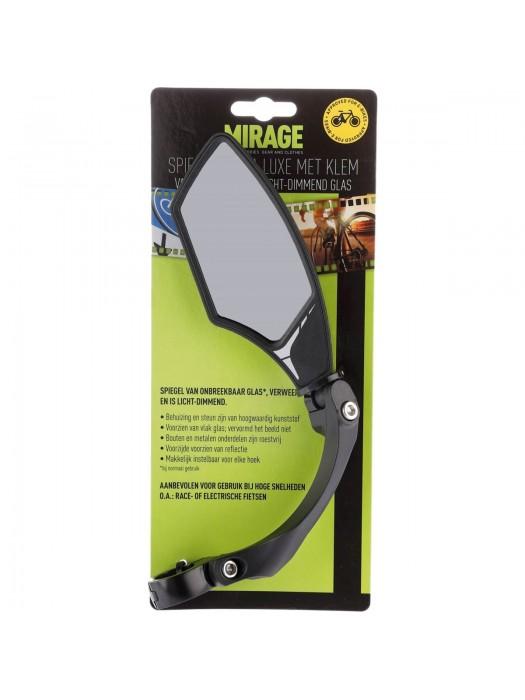 Spiegel Mirage zwart links de luxe o.a. voor E-bike glazen spiegel dimmend